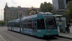 Duewag #022 calling at Willy-Brandt-Platz