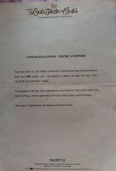 Swatch Winners Letter