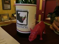 Winos for Rhinos centerpieces