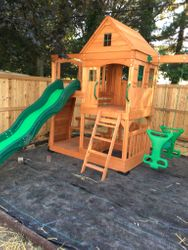 backyard discovery Pacific View swing set assembly in annapolis Maryland