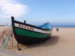 A traditional Nazare fishing boat