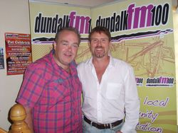 Anthony McBrien & Noel Flynn at Dundalk FM Studios.