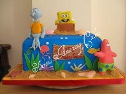 CAKE 42A2 -Spongebob Cake 2