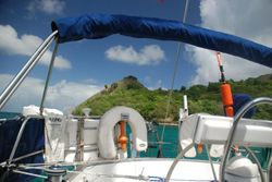 Anchored off Pigeon Island