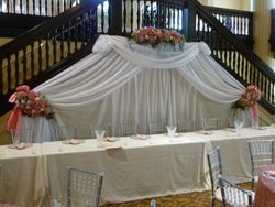 Head table draping