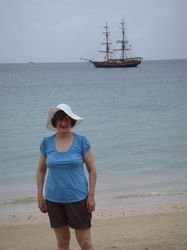 Jan with the Brig Unicorn behind