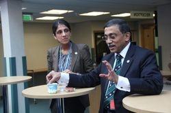 Nadia Ashraf with Shahed Quraishi