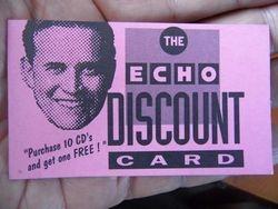 Echo Records Discount Card