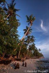 Beach near the Manam island