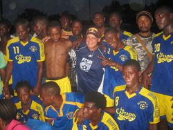Albion team celebration