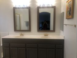 Put up the mirrors