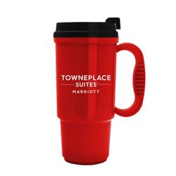 Travel Mugs. 16oz. | Insulated | No Spill Lid | 2 Sided Logo | BPA Free & FDA Compliant | Dishwasher Safe