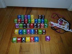 Wonderful Wood Alphabet Lacing Beads Set - $5