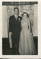 Theodore Deering Manning and Sarah Ann Jonson Wedding 1953