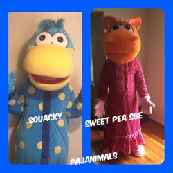 Squacky & Sweet Pea Sue (Pajanimals)