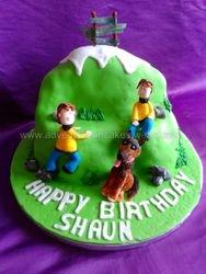 mountain climbing cake