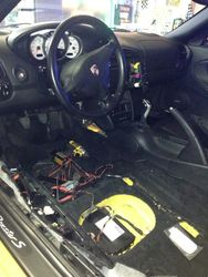 a Boxster S undergoing an IMS guardian install