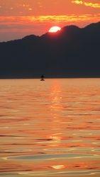 sunset over texeda