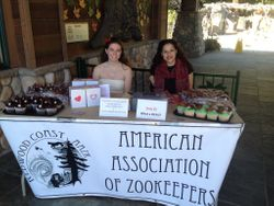 Valentine's Day booth at the Sequoia Park Zoo