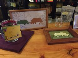 Winos for Rhinos decor