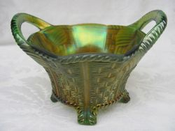 Bushel Basket, 8 sided, green