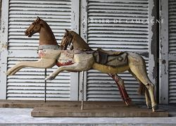 #25/183-184 FRENCH WOODEN HORSES