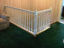 Oak Railing Painted White 1