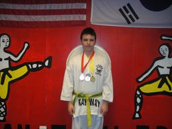 04-01-2012 Yong In Championship Kyle Sweeney 2 nd pl Forms 3rd pl Breaking 1st pl Fighting