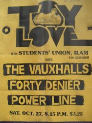 Toy Love, The Vauxhalls, 40 Denier at Varsity
