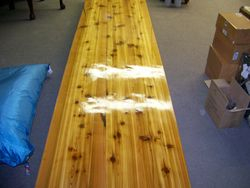 cedar table,high gloss finish
