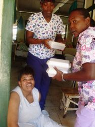 At The Spanish Town Infirmary