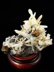 09-00407 Quartz Cluster with Sceptor,  Siderite and Galena