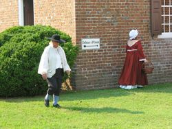 Characters in Colonial Dress on the Eastville Court Green