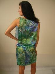 Stamp Silk Dress