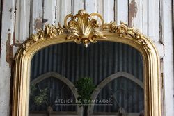 #25/167 FRENCH MIRROR GOLD DETAIL