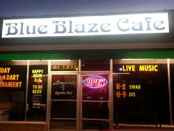 SWAG's home for the night, the Blue Blaze Cafe