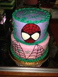 Girly Spider Man Cake