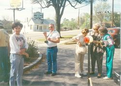 Outside the B & B in Columbia 1991