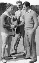 Charley shaking hands W/ Hombardi