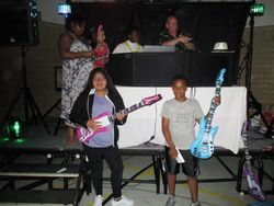 2 winners of the students guitar contest