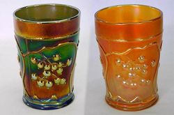Blueberry tumblers in blue and marigold