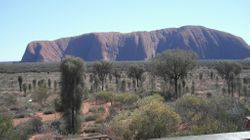 Ayers Rock from the Sunrise Viewing Area