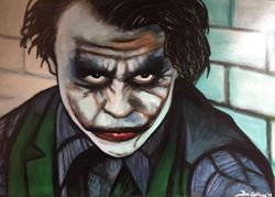 """""""Heath Ledger"""" """"The Joker"""","""
