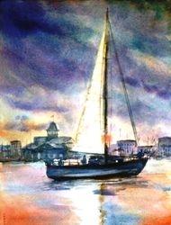 Sail Boat, Balboa Island