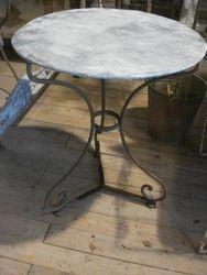 #15/221 Garden Table Zinc Top SOLD