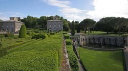 Lower Garden at left and pond with Pegasus on right, Villa Lante, Bagnaia, 1570s