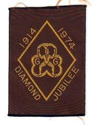 1974 Brownie Anniversary Ribbon Badge