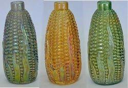 Corn bottles in smoke, marigold, green