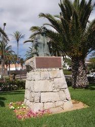 Christopher Columbus statue in Porto Santo