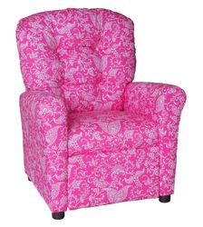 #400 Child Recliner  - Small Paisley Pink